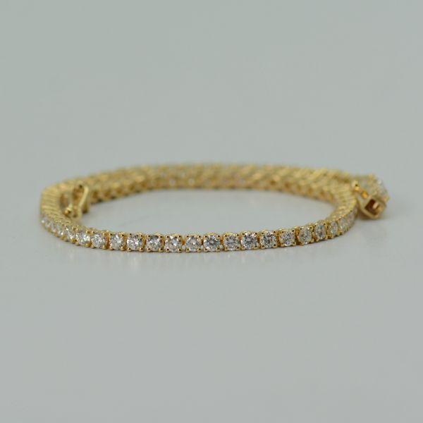 Bratara aur galben 18k cu diamante