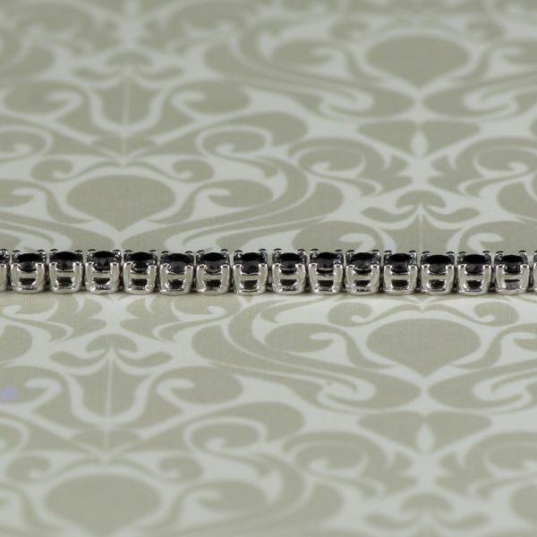 Bratara de aur alb 18k cu diamante negre