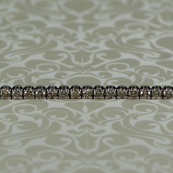 Bratara din aur alb 18k cu diamante brown
