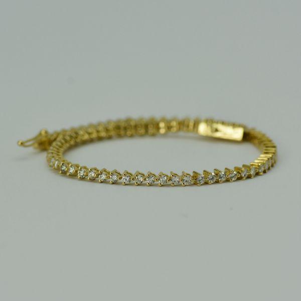 Bratara din aur galben 18k cu diamante
