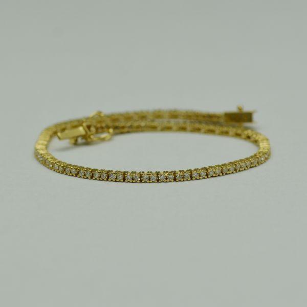 Bratara din aur galben cu diamante
