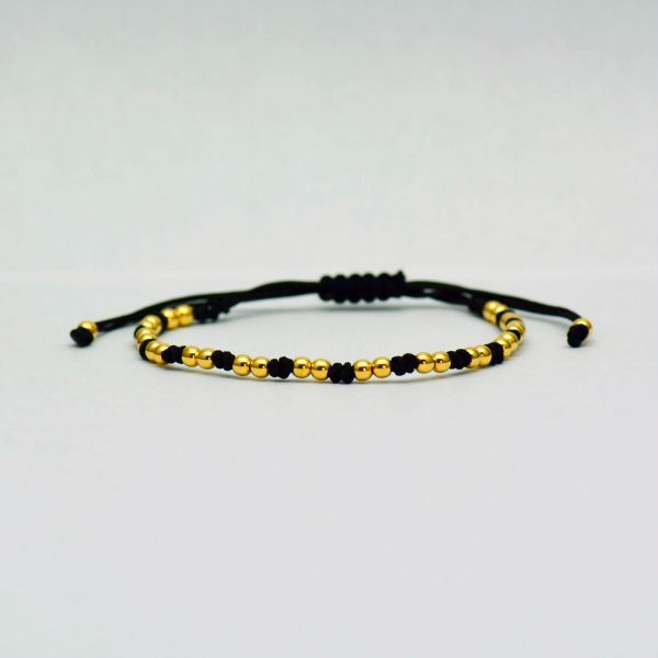 Bratara fir textil cu aur galben