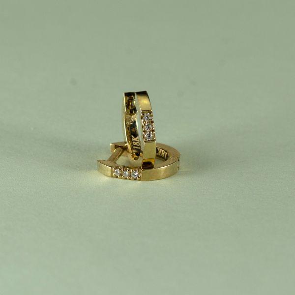 Cercei aur galben 18k, 1,58 grame