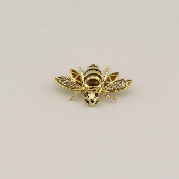 Pandantiv albina din aur galben 14k, 2,79 grame