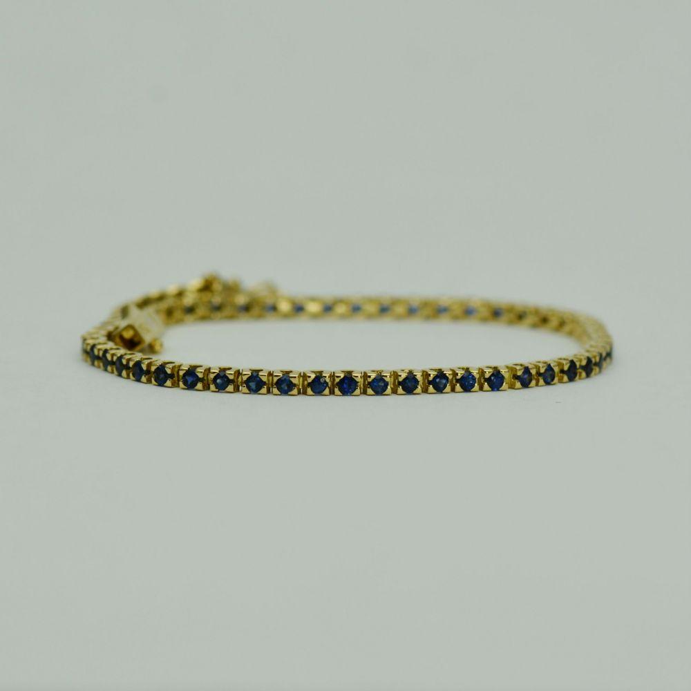 Bratara din aur galben cu safire