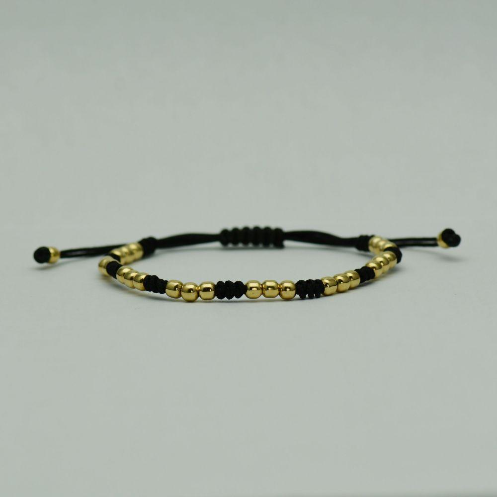 Bratara fir textil cu aur galben 18k