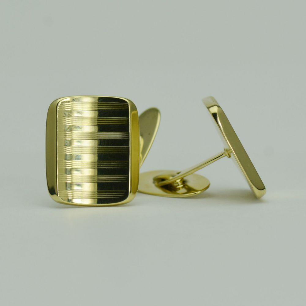 Butoni din aur galben