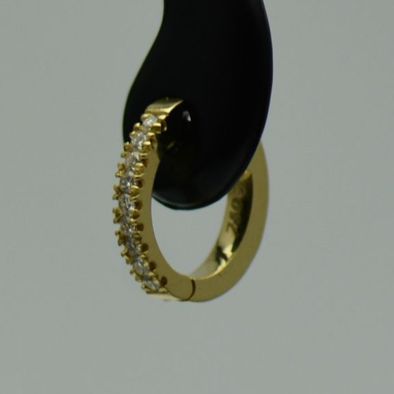 Cercei de aur galben 18k cu diamante(bebelusi)