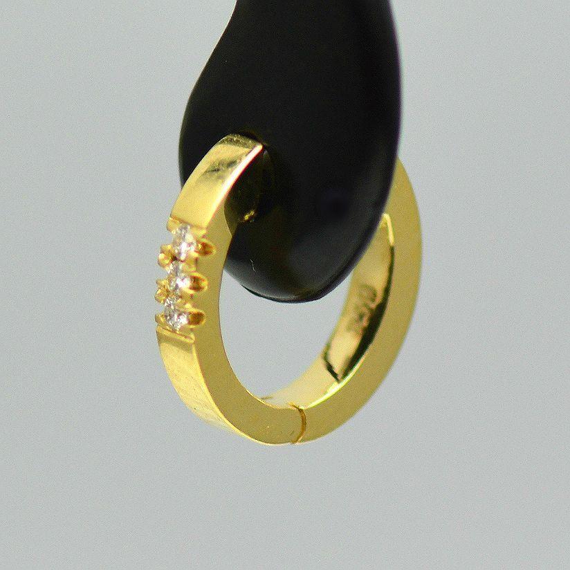 Cercei aur galben cu diamante(bebelusi)