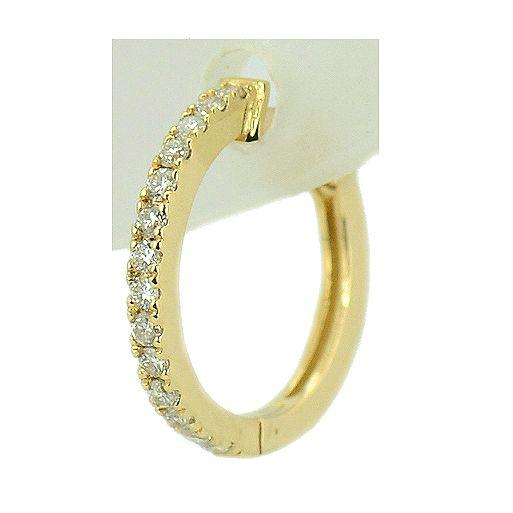 Cercei de aur galben cu diamante briliant