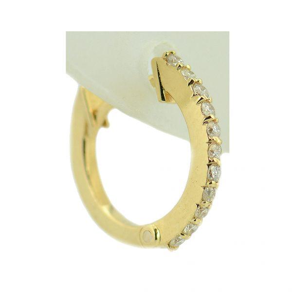 Cercei din aur galben cu diamante rotunde