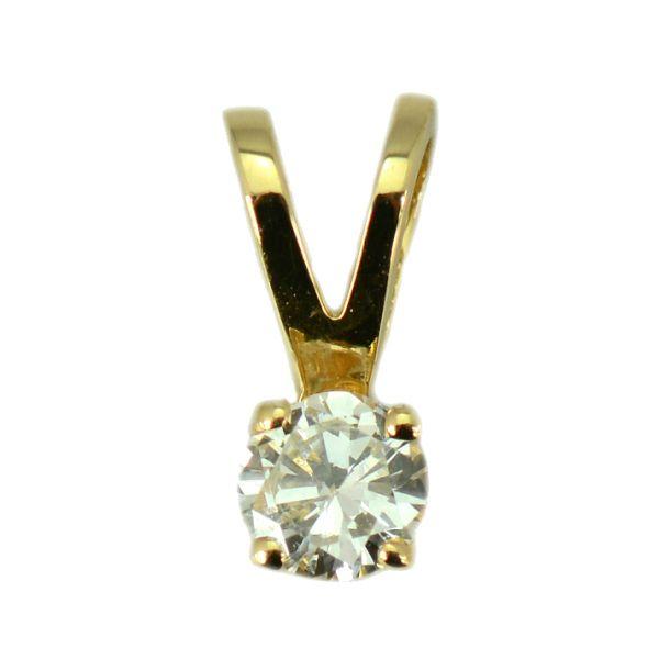 Pandantiv din aur galben 18k cu diamant