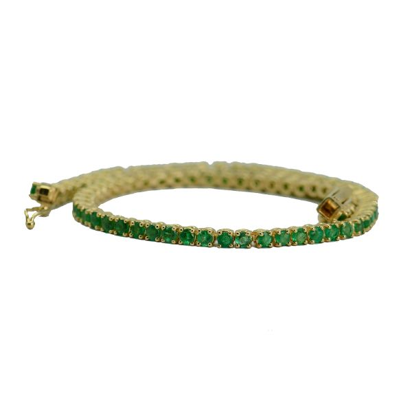 Bratara aur galben 18k cu smaralde