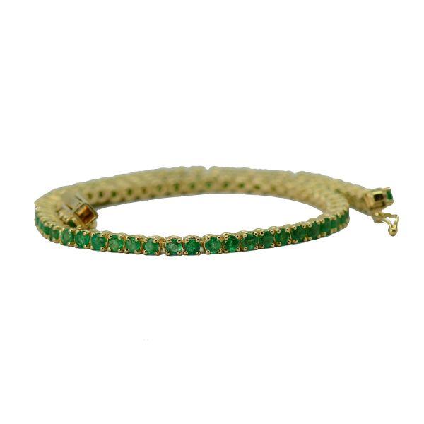 Bratara aur galben cu smaralde