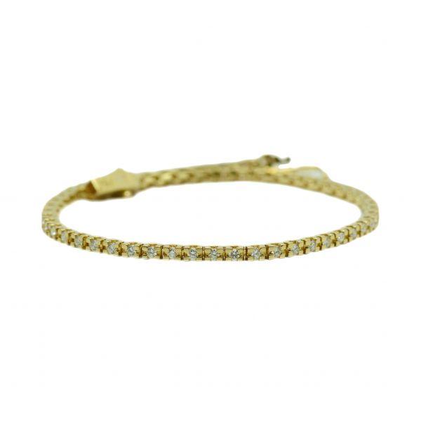 Bratara de aur galben 18k cu diamante