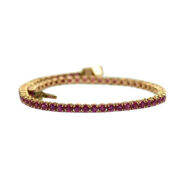 Bratara de aur roz cu rubine