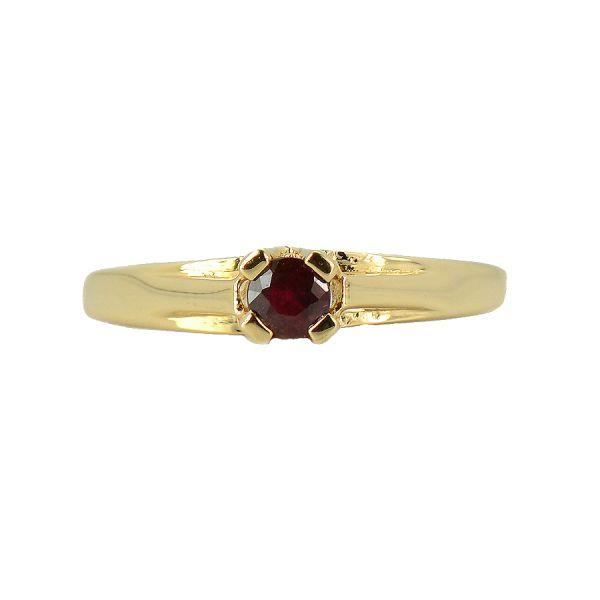 Inel din aur galben 18k cu rubin