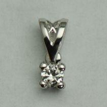 Pandantiv 18k aur alb cu diamant rotund
