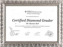 Bob Marian - Identificare, expertizare, evaluare si certificare diamante - Certified Diamond Grader