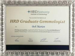 Bob Marian - Gemologist absolvent HRD